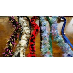 Fleece plaits, with webbing and bungee handles