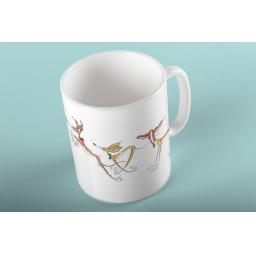 3 Pongos 11oz mug - design Nellie Doodles