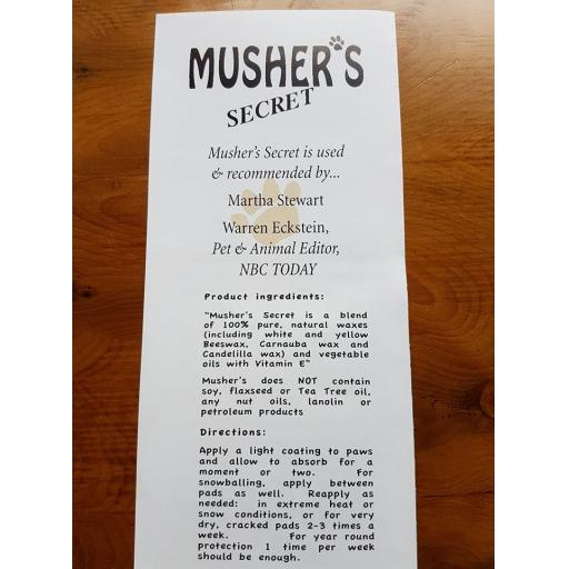 Musher's Secret Paw Wax 200g