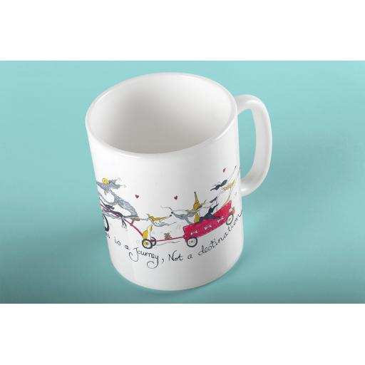 Happiness is a journey 11oz mug
