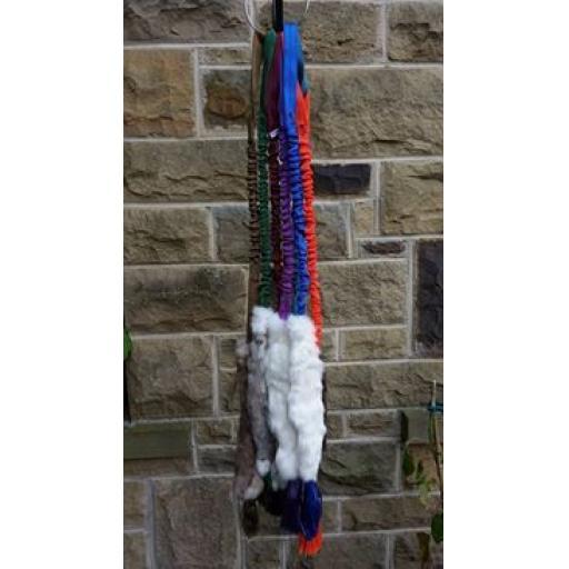 Rabbit skin bungee dog tugs