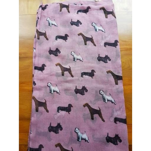 Pooch Patterns scarf - choice of colours