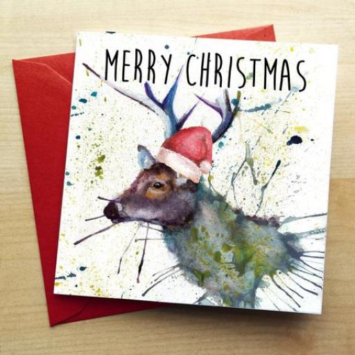 Splatter Christmas Cards - various designs